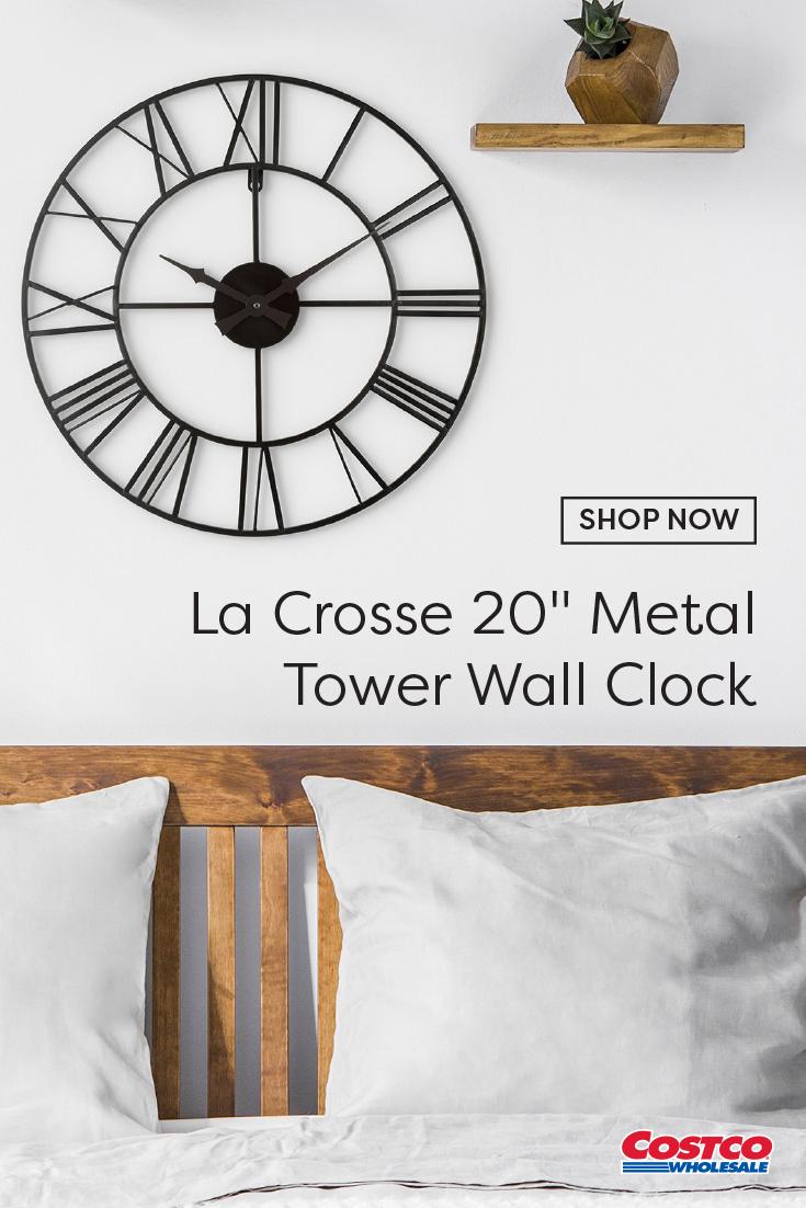 La Crosse 20 Metal Tower Wall Clock In 2020 Clock Metal Wall Clock Wall Clock