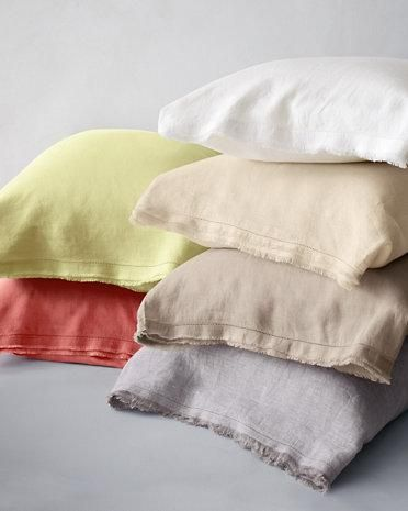 Eileen Fisher Washed Linen Sheets And Bedding Garnet Hill