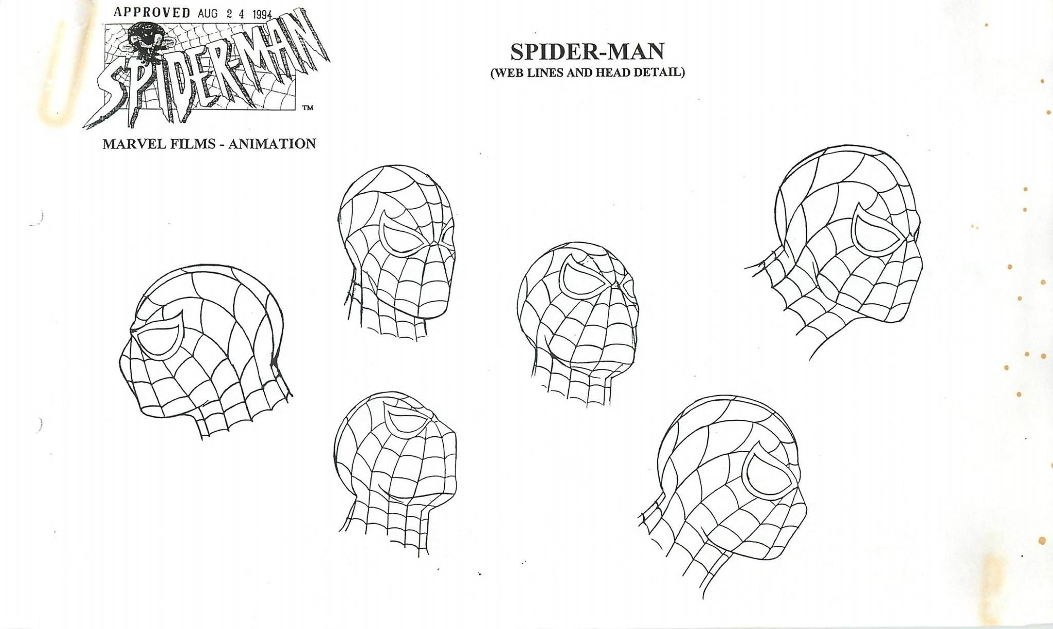 Character Designs from Spider-Man: The Animated Series