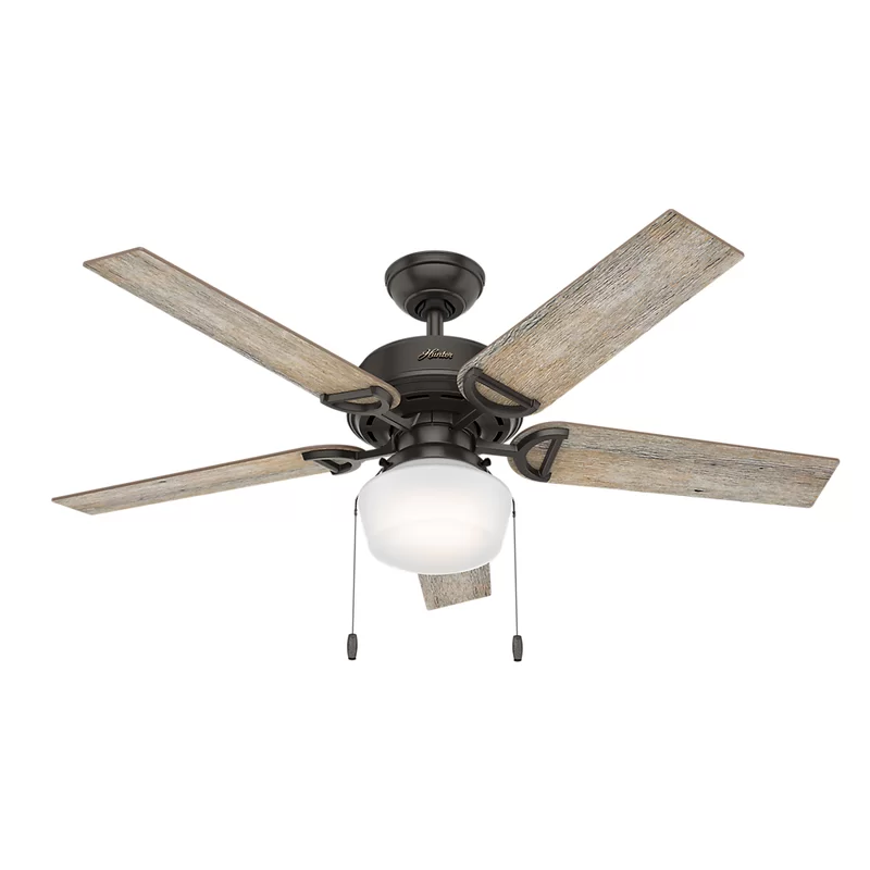 52 Viola 5 Blade Standard Ceiling Fan With Pull Chain And Light Kit Included In 2020 Ceiling Fan With Light Bronze Ceiling Fan Ceiling Fan