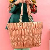 $14.99 Fashion Korean Zipper Golden Yellow PU Shoulder Bag
