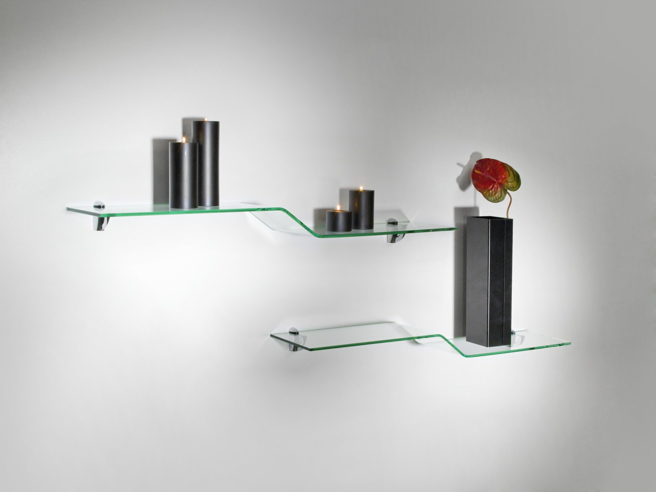 Mensole moderne in vetro design Boa | Mensole moderne | Pinterest
