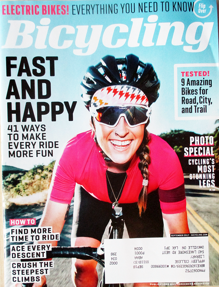 """""""Bicycling September 2017 """" in 2020 Bicycling magazine"""