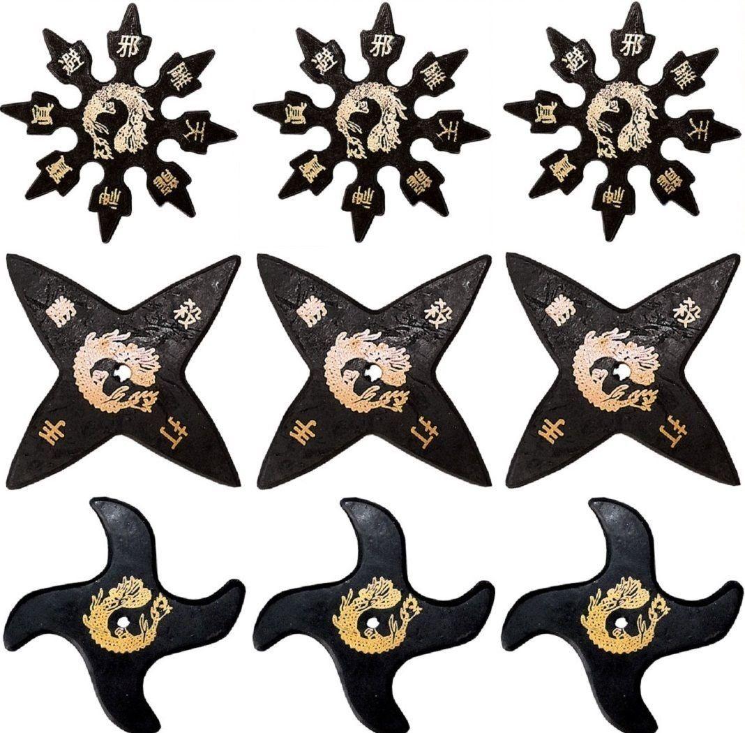 Ninja Rubber Throwing Stars Practice Foam
