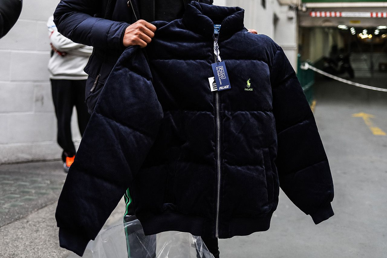 dee4ff8611271 Palace Skateboards x Polo Ralph Lauren London Streetsnaps Fashion Clothing  Street-Style Collab Collaboration Closer Look Bear Kickflip Puffa Jacket  Corduroy ...