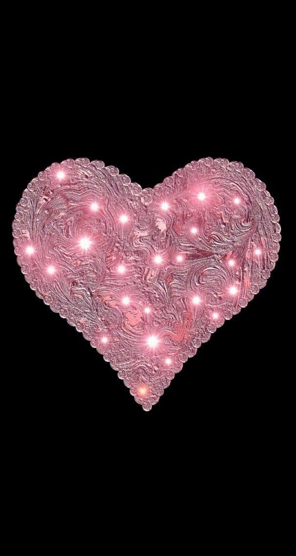 Black And Pink Pink Heart Heart Wallpaper Heart Iphone Wallpaper