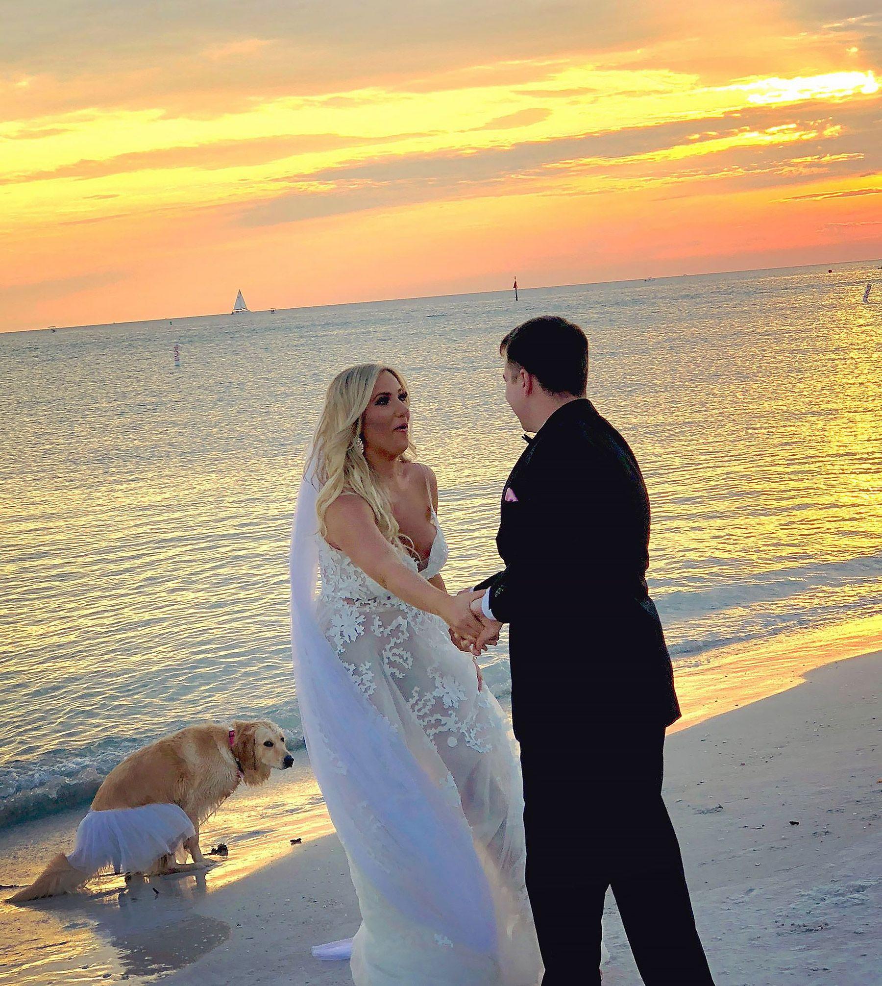 Dog Bridesmaid Interrupts Newlyweds' First Wedding Dance