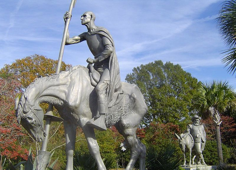 Don Quichotte et Sancho Pansa, A. Hyatt et C. P. Jennewein, USA ...