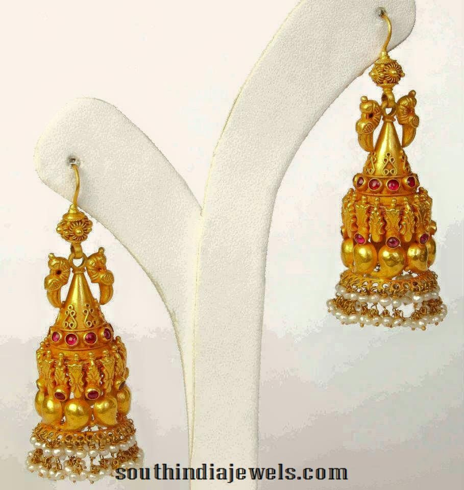 Latest Antique Jhumka Designs | South india, Gold jewellery and Gold