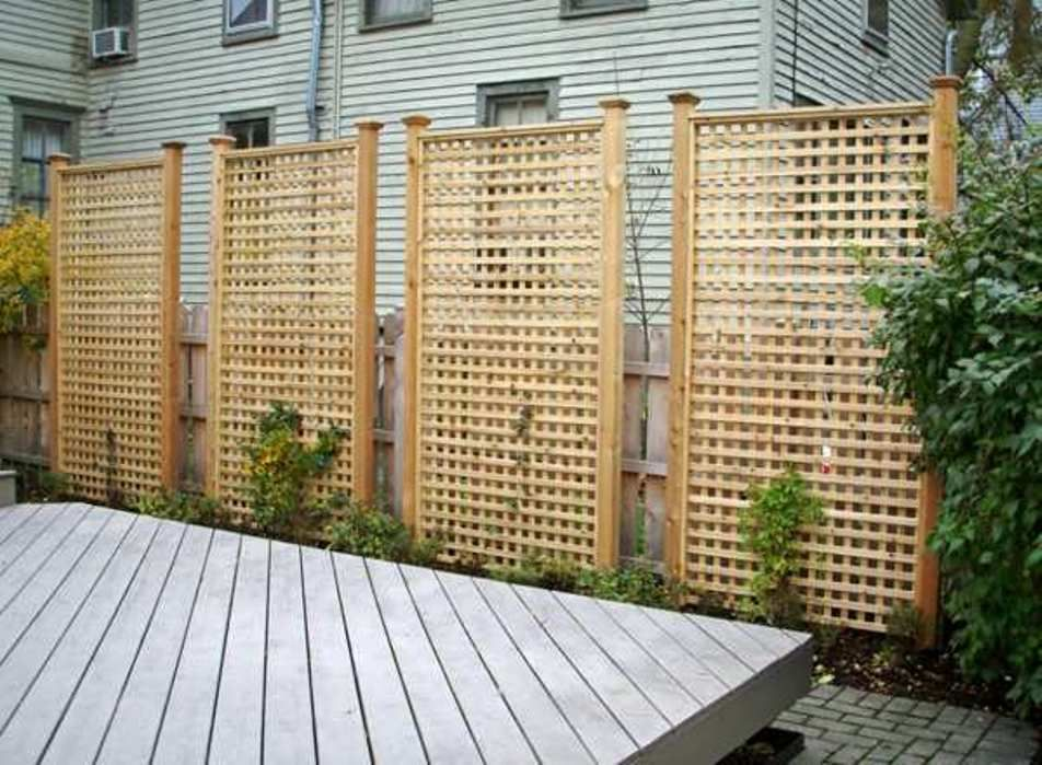 standing lattice fence panels all home decor placed on inexpensive way to build a wood privacy fence diy guide for 2020 id=71333