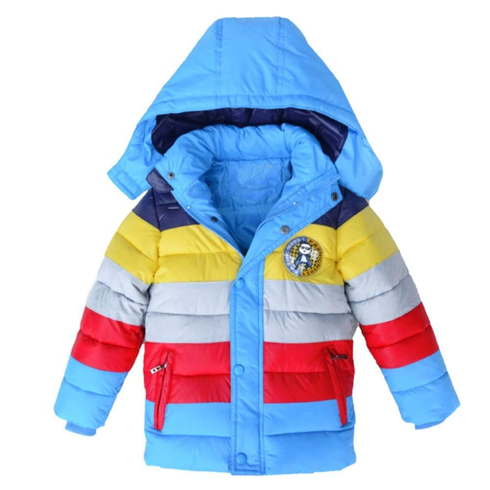 ca79e1857 Buy online Padded Rainbow Thick Coat Patch Wok Winter Jacket Clothes For  Kids which offers your kids a smart look available at best price in India.