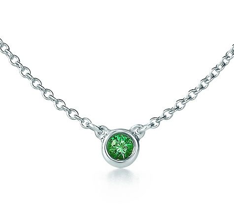 cb5cbeabf Tiffany & Co. | Item | Elsa Peretti® Color by the Yard necklace in sterling  silver with a tsavorite. | United States