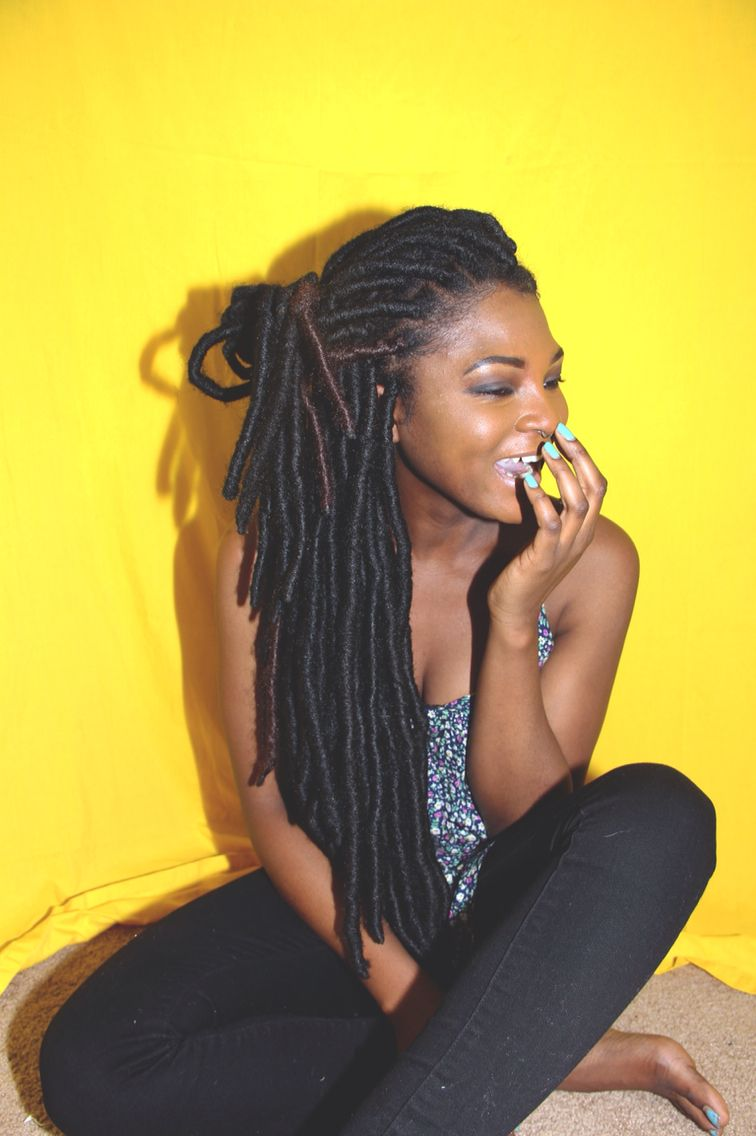 Long Faux Locs Natural Hair Styles Coiffure Cheveux Coiffure Femme
