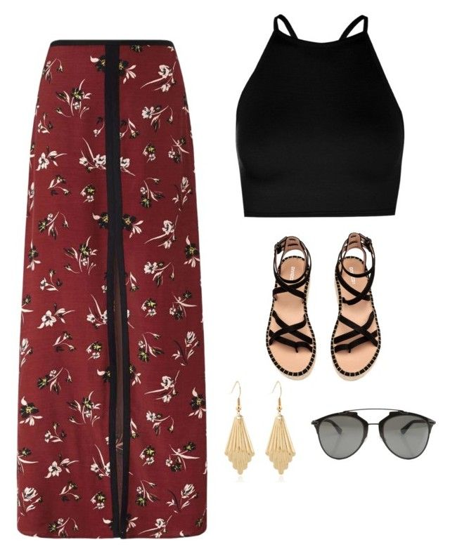 """Bohemian"" by rebecaruizr on Polyvore featuring moda, Miss Selfridge, Boohoo y Christian Dior"
