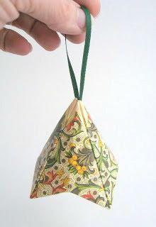 'German Bells' Christmas Card Ornament