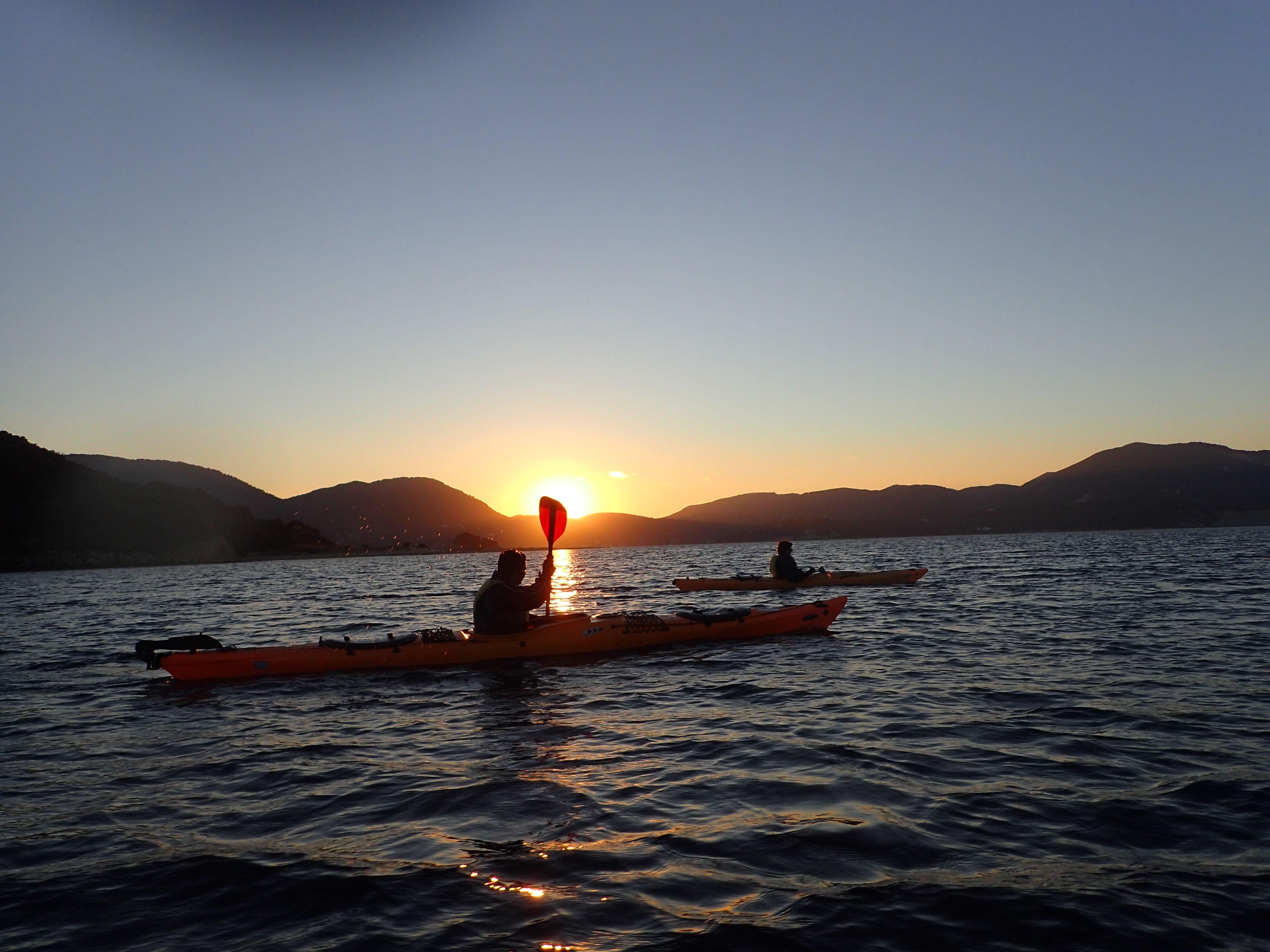 paddling with the sunset zakynthos