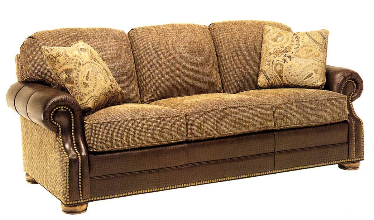 Leather And Fabric Sofa Modern Interiors Design Ideas Leather