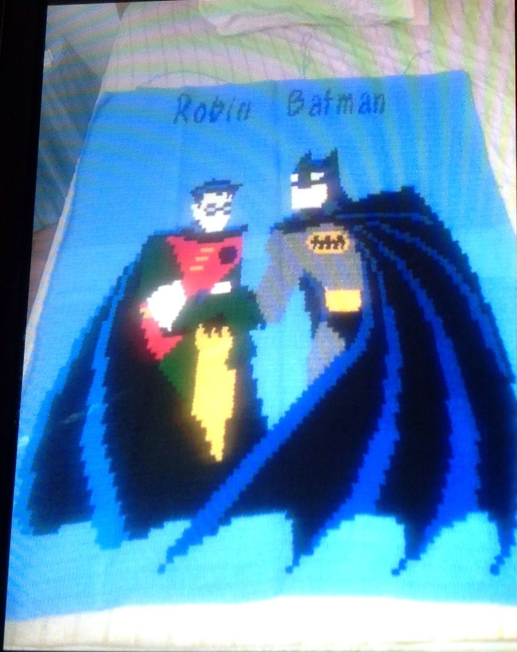 Crochet twin size batman and robin blanket guyana pinterest crochet twin size batman and robin blanket dt1010fo