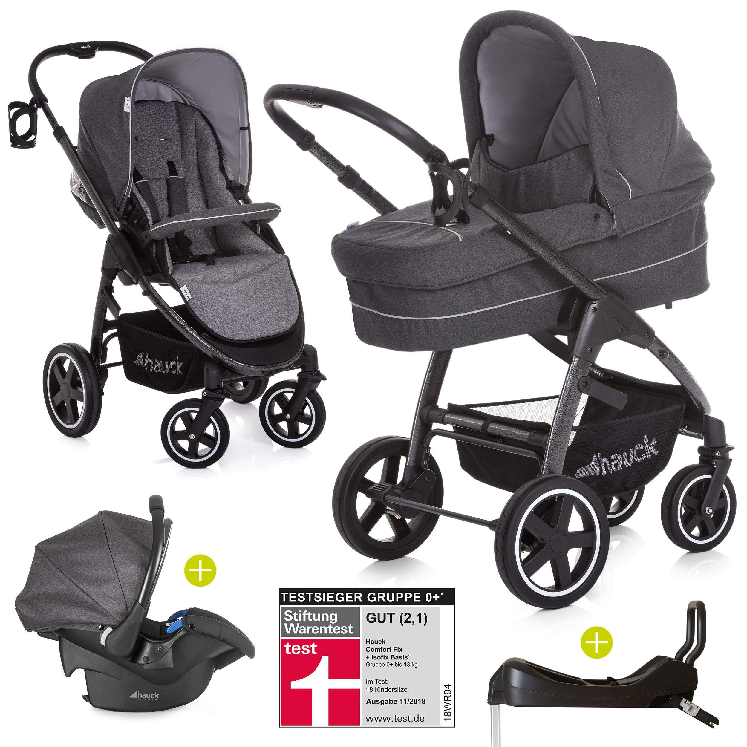 Buggy Test Warentest Hauck Pushchair 3 In 1 Set Soul Plus Incl Car Seat And