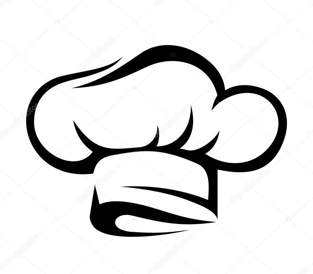 Chef Hat Vector Black Silhouette Stock Illustration Chef Logo Chefs Hat Slogan Design