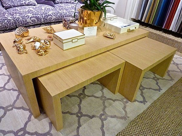 AERIN Furniture At EJ VICTOR. Dearborn Nesting Tables In A Natural Finish.  Via Quintessence