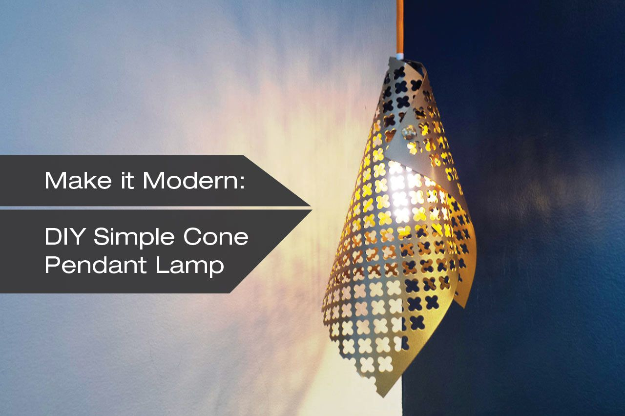 How to make a diy simple cone pendant lamp pendant lamps lights how to make a diy simple cone pendant lamp design milk arubaitofo Image collections