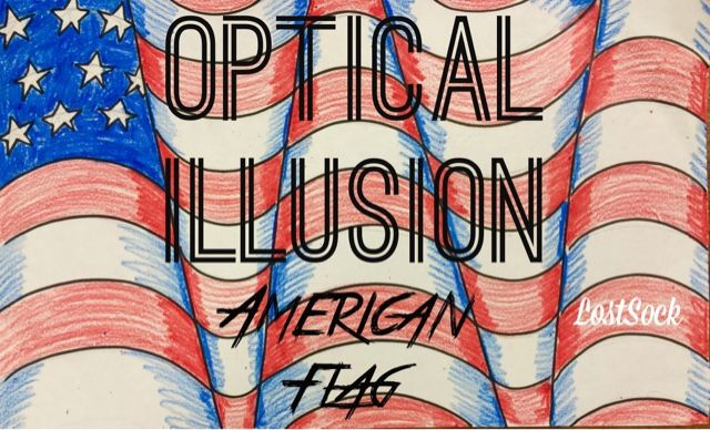 Optical Illusion American Flag (The Lost Sock) #americanflagart