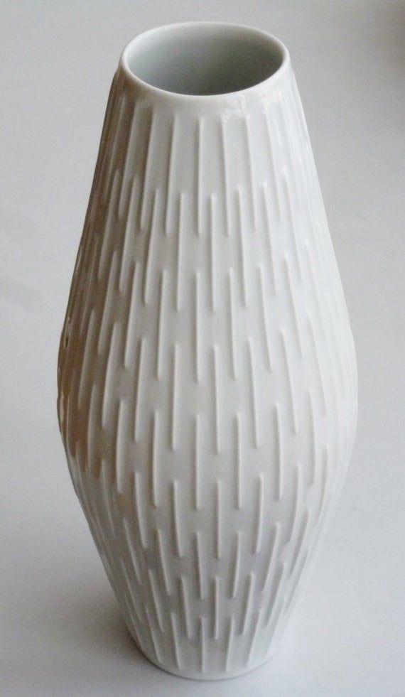 Vase PMR Jaeger op art Blumenvase Porzellanvase weiß   Etsy