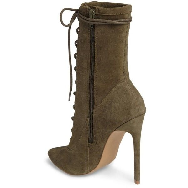 bb0ba9dcb41 Women's Steve Madden Satisfied Corset-Lace Bootie ($130) ❤ liked on ...