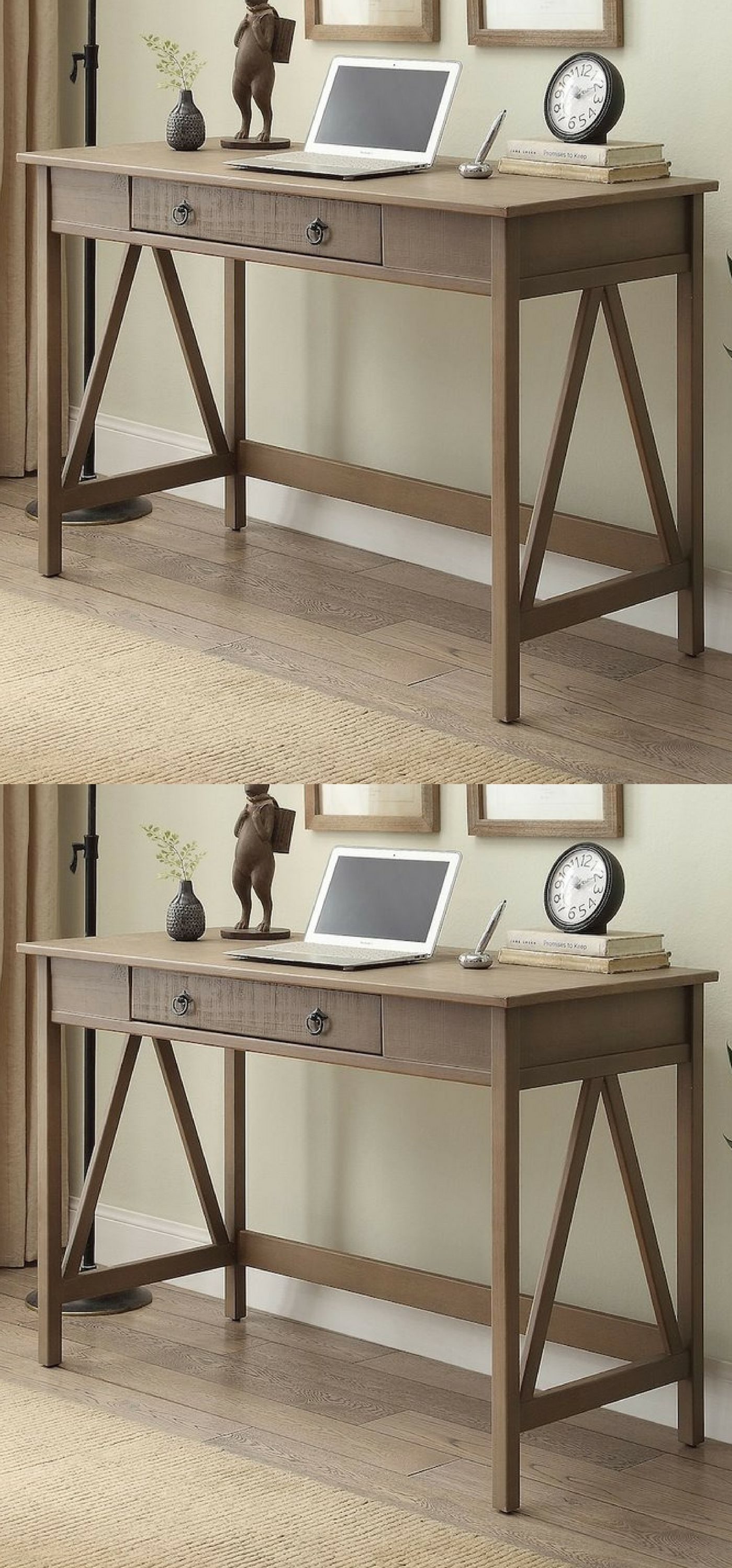 Rustic Finish Gives This Desk Bold Look Enhance