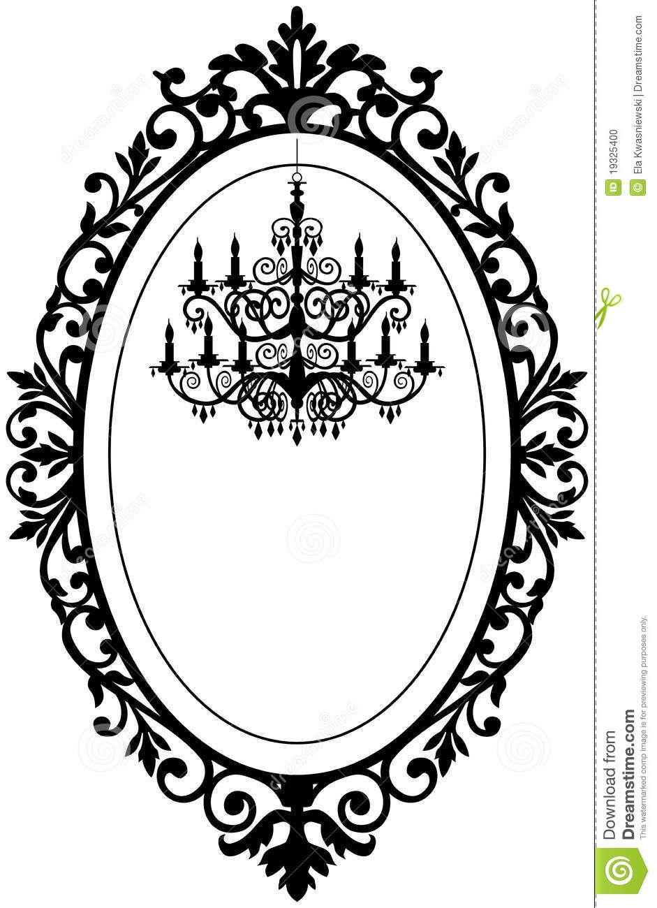 Antique20oval20frame20silhouette silhouette designs pinterest vintage antique picture frame with baroque chandelier black silhouette full scalable vector graphic change the colors as you like by ela kwasniewski arubaitofo Gallery