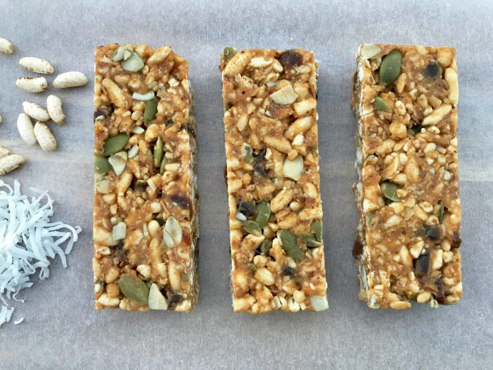 Healthy No Bake Puffed Rice And Coconut Bars Just 112 Calories Recipe Puffed Rice Rice Puff Recipes Healthy Rice Recipes