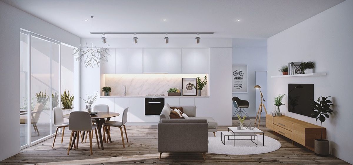 Ed arredare un soggiorno con angolo cottura di 20 mq e 30 mq,. 30 Living Rooms That Transcend Design Eras Living Room Dining Room Combo Dining Room Combo Living Dining Room