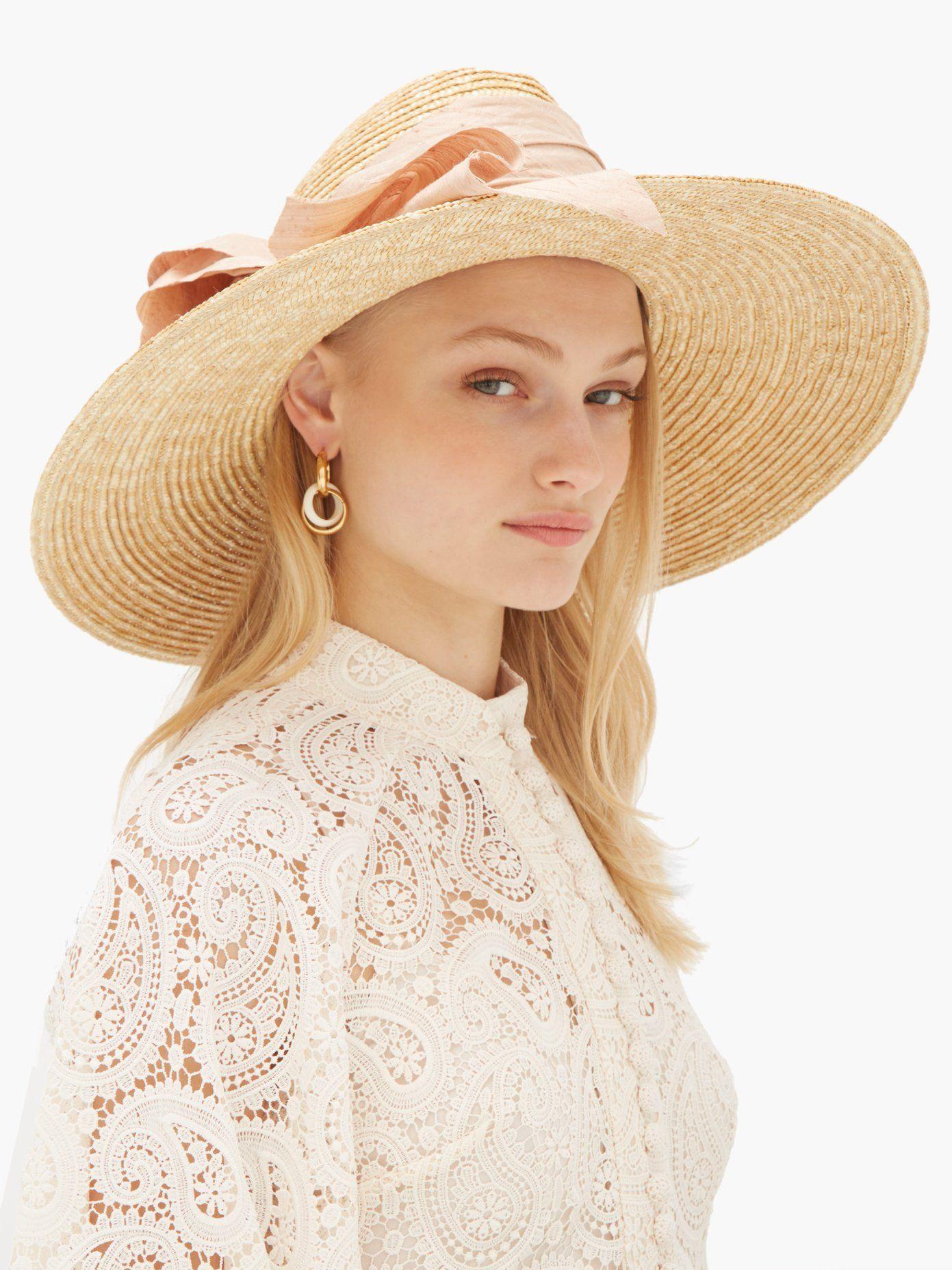 fc6027cf56c8b2 Scallopini silk bow-trimmed straw hat | Lola Hats | MATCHESFASHION.COM