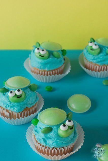 Schildkröten Cupcakes Rezept - Idee für Kindergeburtstag - SIMPLYLOVELYCHAOS