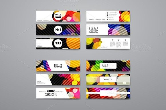 Set of Abstract Banners - client information sheet template