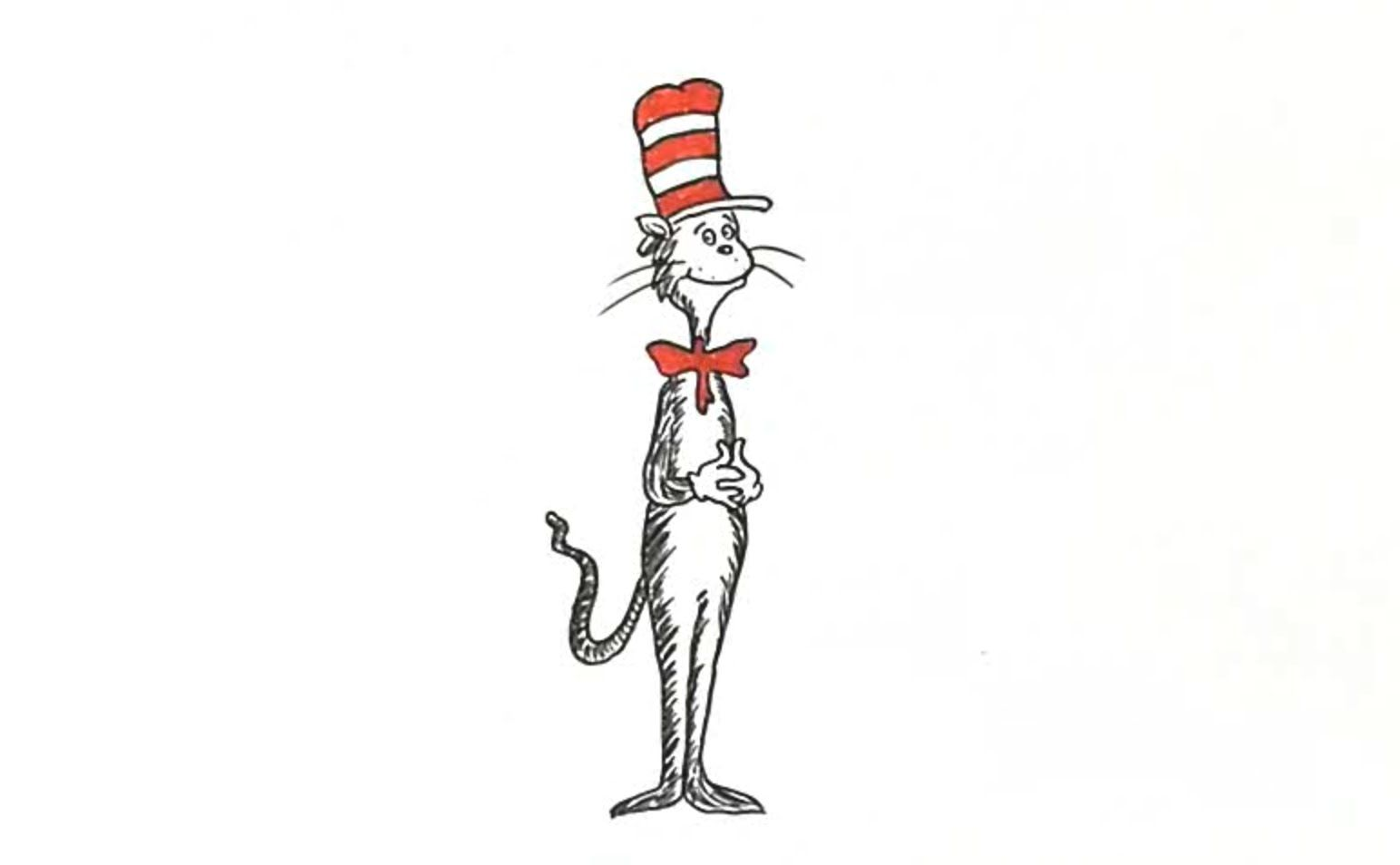 Learn How To Draw Dr Seuss The Cat In The Hat In This