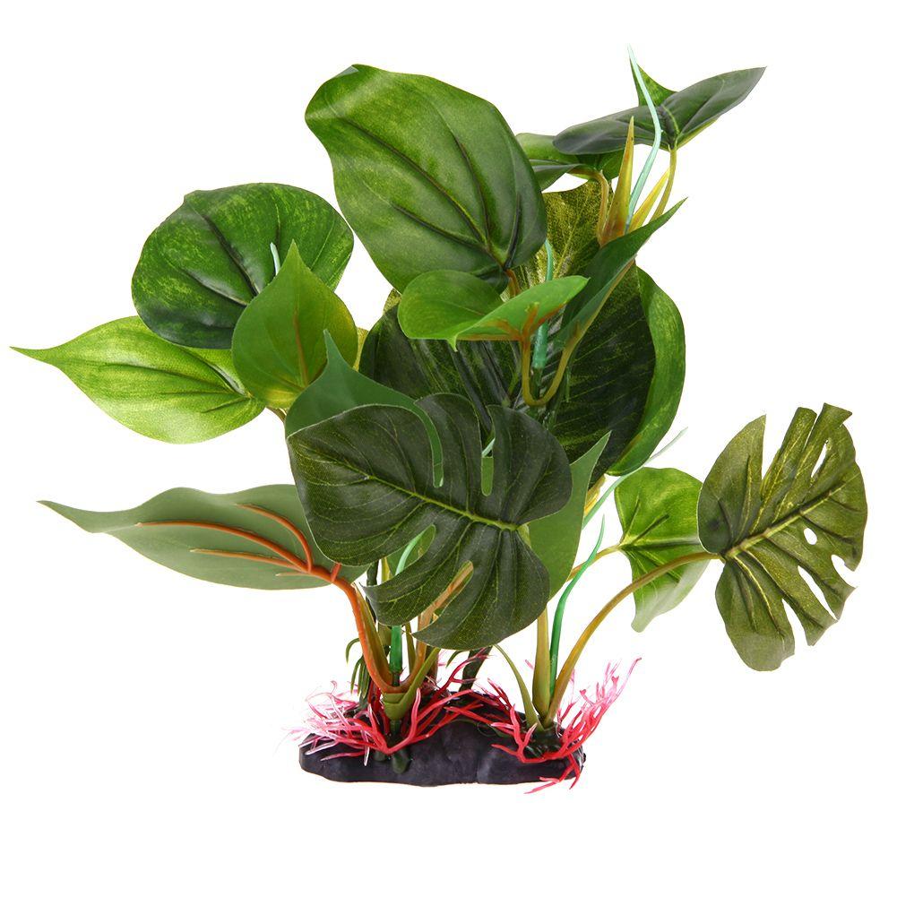 Large leaf aquatic plant simulation purple artificial plastic grass
