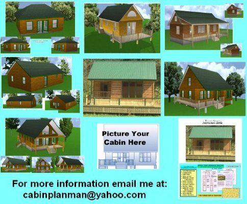 16x36 Cabin w/ 2 Loft Plans Package, Blueprints, Material List ...