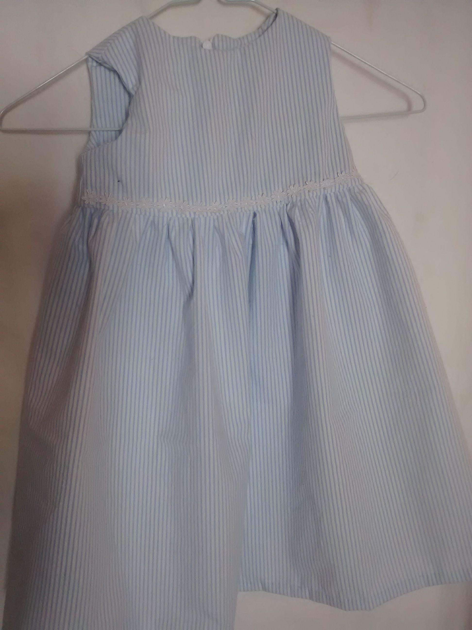 10393aa2552795 Fluffy Cloud  Blue   white stripped seersucker cotton Baby L   Toddler S  Sleeveless