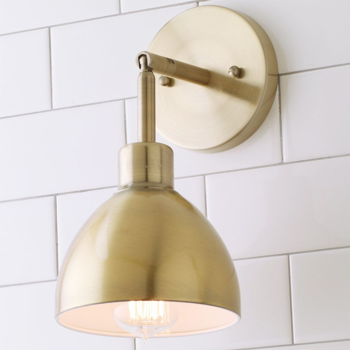 Young House Love Dapper Sconce & Young House Love Dapper Sconce | House Powder room design and Room