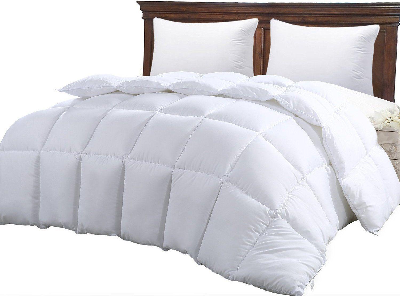 Amazon Com Queen Comforter Duvet Insert White Quilted Comforter With Corner Tabs Hypoallergenic Plush Sil Duvet Comforters Cool Comforters Bed Comforters