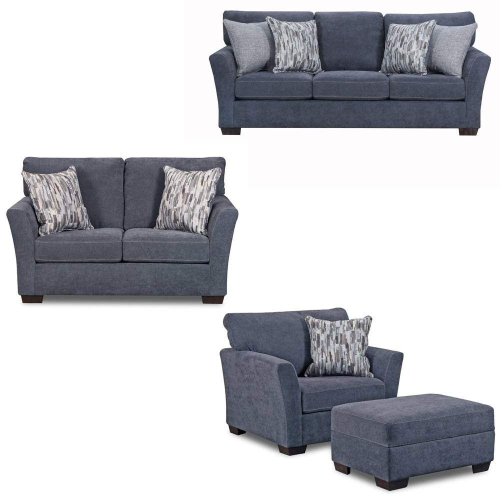 Simmons Upholstery - Pacific 4 Piece Living Room Set - 7058-03-02-01 ...