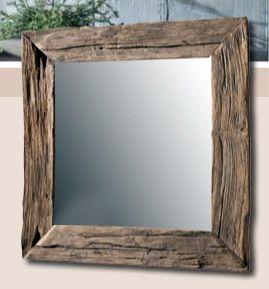 Spiegel holz teakholz 100 cm wandspiegel teak spiegel spiegel holz wandspiegel und badezimmer - Wandspiegel mit holzrahmen ...