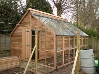 I Like The Idea Of A Combo Potting Shed Greenhouse The 400 x 300