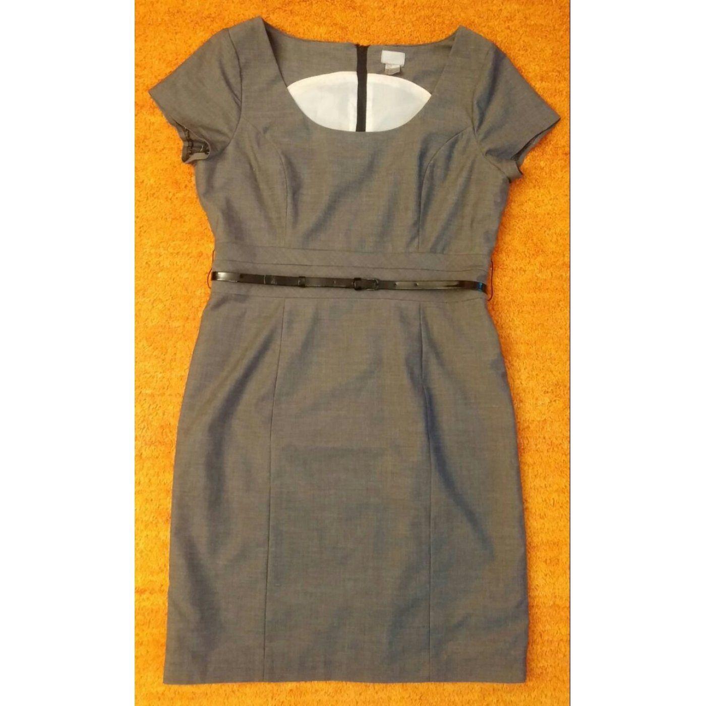 Damen Kleid gefüttertes Cocktailkleid Gr. 42 in Grau von H&M NW ...