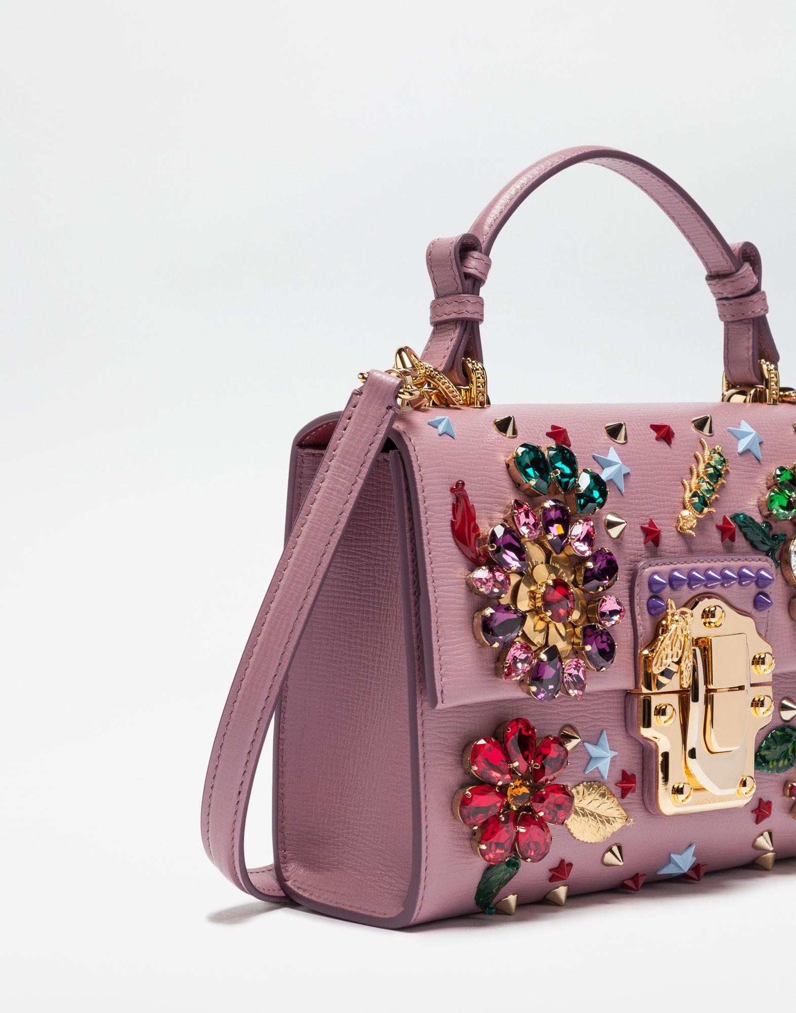 BORSA LUCIA IN PELLE CON APPLICAZIONI GIOIELLO | Bags