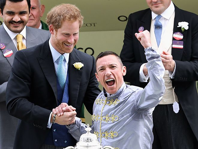 Star Tracks: Wednesday, June 15, 2016 | WINNER'S CIRCLE  | Prince Harry is all smiles as he presents the St. James Palace Stakes to a triumphant Frankie Dettori at the 2016 Royal Ascot on Tuesday in Ascot, England.
