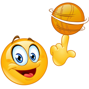 Show Some Sportive Flair In Your Next Post With This Ball Twirling Smiley In 2020 Smiley Funny Emoticons Emoji Images