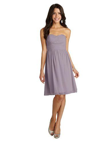 Women's | Dresses | Sarah Short Strapless Sweetheart Chiffon Dress | Hudson's Bay